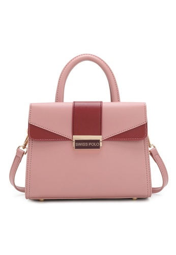 Swiss Polo pink Faux Leather Top Handle Bag C9A92ACF10460BGS_1