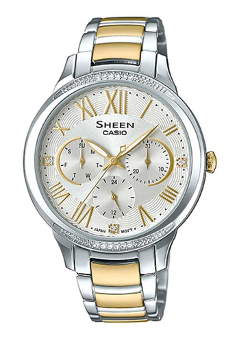CASIO silver Casio Sheen Gold and Silver Stainless Steel Watch B14CFAC7C18F36GS_1