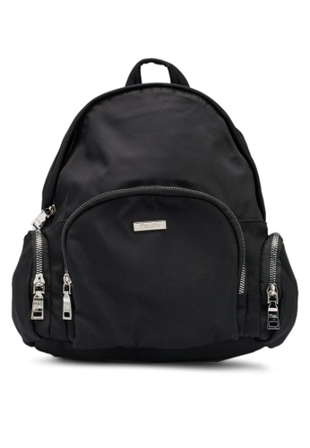Mel&Co black Nylon Backpack 7CF07AC0BB6A6AGS_1