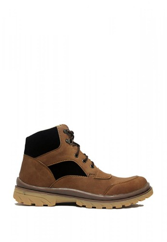 Cut Engineer brown Cut Engineer Safety Boots Jordan Steel Leather Soft Brown 76D97SHA012FC2GS_1