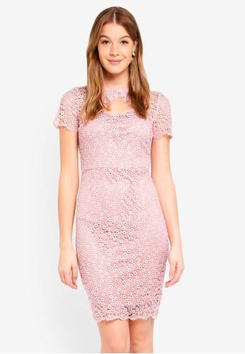Paper Dolls pink Keyhole Dress 37E96AA34D8871GS_1