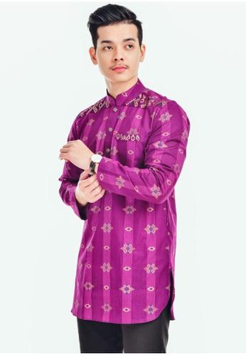 UA BOUTIQUE purple Kurta Batik KLB02-111 (Purple) ED591AA4B64FDEGS_1
