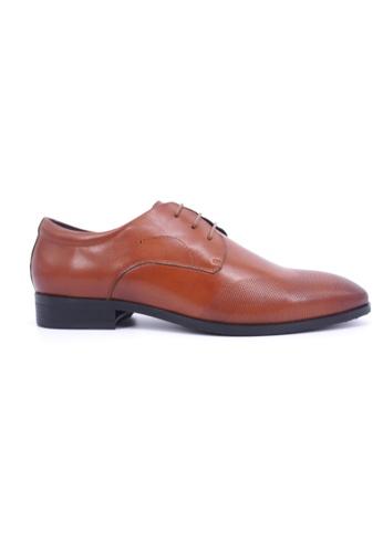 Hanson Bootmaker brown Hanson Bootmaker Lace Up Derby- Tan HA656SH0GHVTSG_1