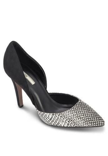 蛇紋印花尖頭高跟鞋, 女鞋, 厚底高跟esprit outlet 台灣鞋