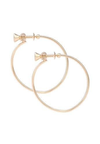 niko and ... gold Thin Hoop Earrings 1E5BFAC4457466GS_1