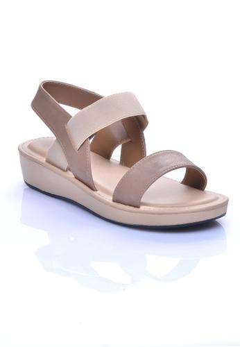LENO beige PEMBE Slingback Sandals (LS36545) LE122SH30OIFMY_1