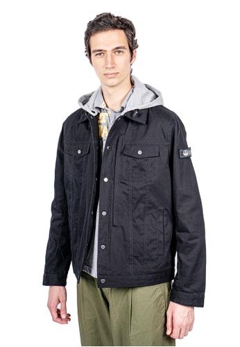 East Pole black Unisex 14 Pockets Denim Style Jacket A3160AAA82BE07GS_1