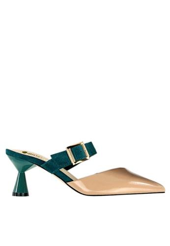 Twenty Eight Shoes 米褐色 型格高跟拖鞋 VL9062 5AD99SH3379A24GS_1