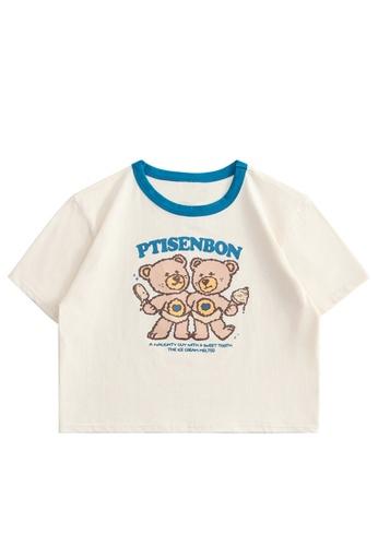 Twenty Eight Shoes Slim Printed Short Sleeve T-shirt HH0053 77FD5AA1EFDD98GS_1