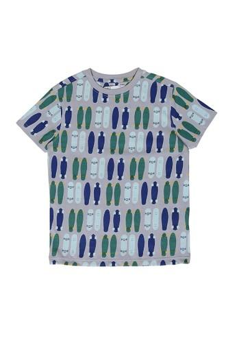 MARKS & SPENCER multi Skateboard Print T-Shirt 10396KA242385FGS_1