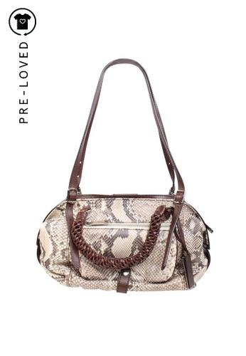 Contemporary Designer brown Pre-Loved contemporary designer Leather Handle Bag 5A3A2AC4401359GS_1