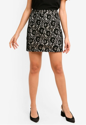 ZALORA black High Waisted Short Skirt 51632AAA17F916GS_1