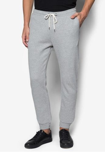 Burton Menswear London 灰色 素色休閒長褲 BU838AA05JVUSG_1