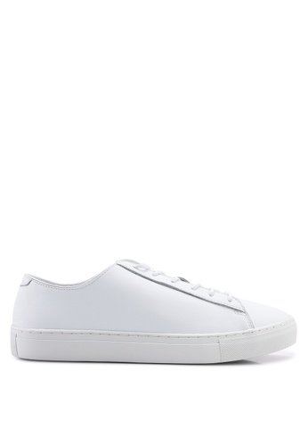 MANGO Man white Lace-Up Leather Sneakers 4C93BSH9AA0158GS_1