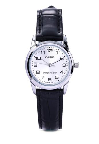 Casio LTP-V0esprit outlet 台中01L-7BUDF 數字皮革錶, 錶類, 其它錶帶
