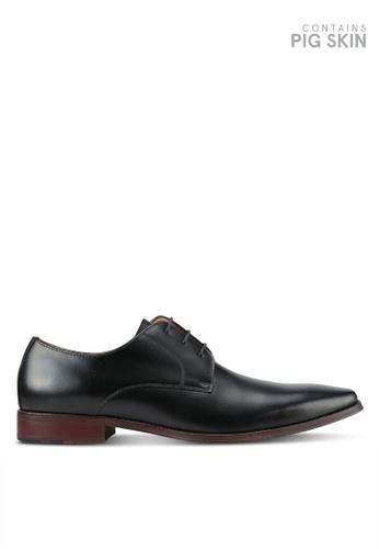 Dune London black Richmonds Square Toe Derby Shoes DU588SH0RK6GMY_1