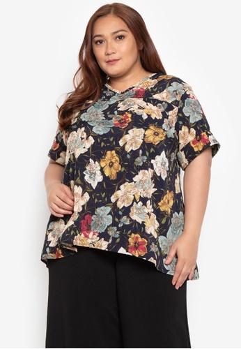 2faca9ec95379 Maxine multi Plus Size Blouse Floral Crepe Georgette Short Sleeve  7F925AAFE83D33GS 1