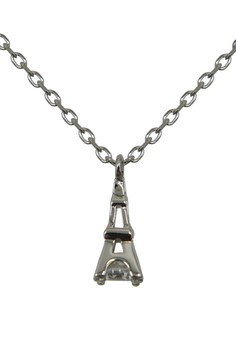 S925 Fine Silver Eiffle Tower Pattern Silver Cable Chain