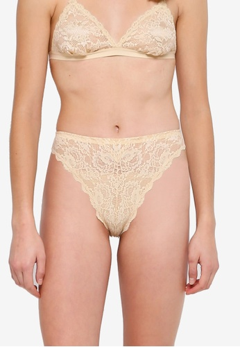 545971a57483 Cosabella beige Never Say Never Indie High Leg Bikini Panties  E6A85USA02BAD7GS_1