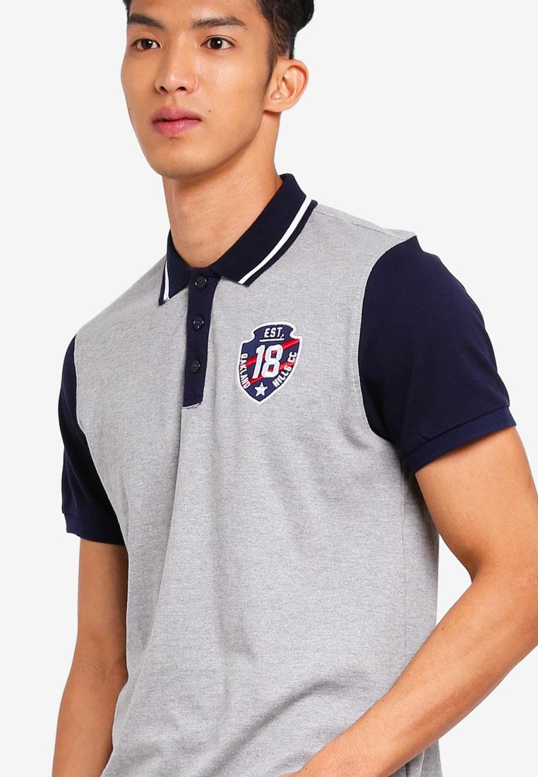 Marc amp; Giselle Shirt Polo Embroidered Grey wxRZ78Ewq