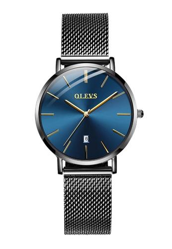 OLEVS blue Olevs Ultra Light Women Calendar Stainless women Quartz Watch 1EDF6AC61B596DGS_1