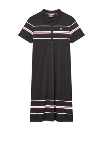 FILA navy F-box Logo Color Blocks Cotton Polo Dress 48B01AA3B60EA0GS_1