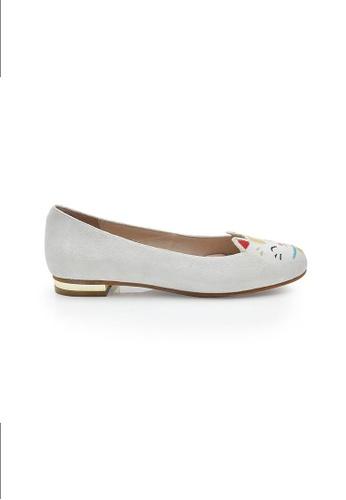 Elisa Litz white Maneki-Neko Flats White EL365SH0FI34SG_1
