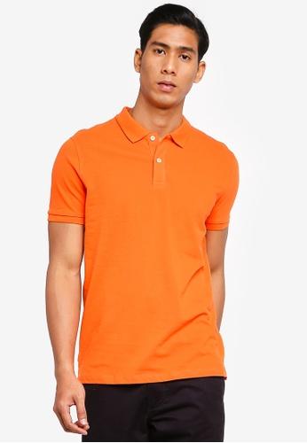 OVS 橘色 Basic POLO衫 49818AAD82C916GS_1