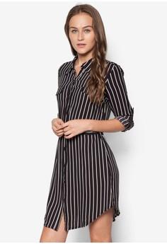 Long Sleeve Stripe Shirt Dress