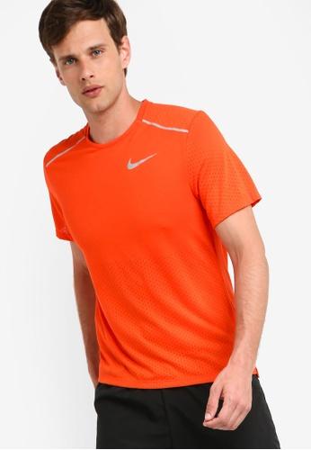 7eff4a5f Nike orange As Men's Nike Breathe Rise 365 Short Sleeves Top  E1506AAE1A6817GS_1
