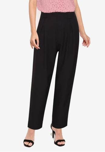 ZALORA WORK black Pleat Detail Long Pants 5C270AA8EFF222GS_1