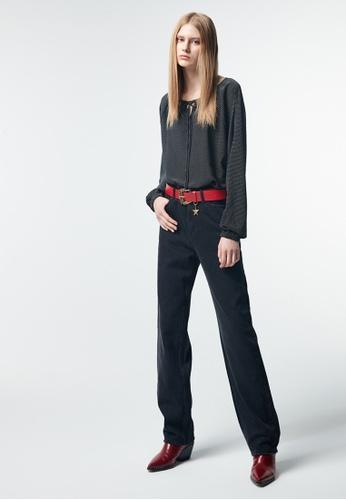 iROO blue Straight Cut Trousers 6035CAAE6DF2EAGS_1