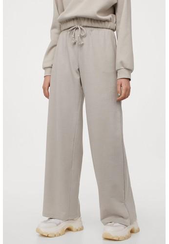 H&M grey Wide sweatpants 76F9EAAA8BCBF7GS_1