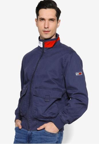 Tommy Hilfiger navy Tjm Cotton Flag Collar Bomber - Tommy Jeans 2EF4BAAB202D14GS_1