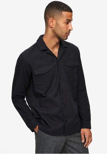 Selected Homme black Loosenight Long Sleeves Overshirt B268FAA1C2C937GS_1