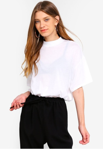 TOPSHOP white High Neck T-Shirt F7039AACB47C3EGS_1