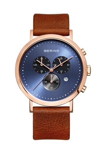 Bering gold Classic 10540-467 Blue 40 mm Men's Watch F475AAC355F7E3GS_1