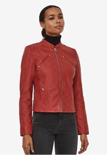Vero Moda red Favodona Coated Jacket 2BD52AAC903897GS_1