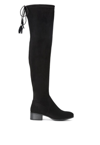 London Rag black Faux Leather Over the Knee Boots CC28ESH836BCCCGS_1