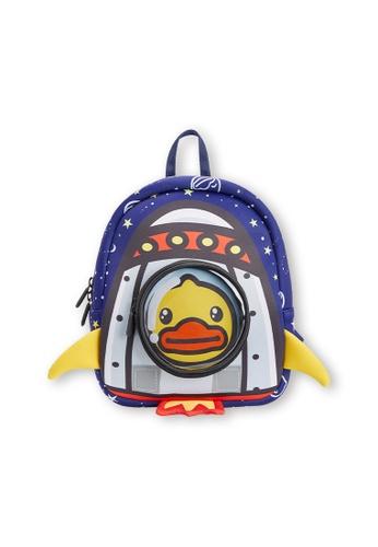 B.Duck navy B.Duck Kids Backpack (Rocket) 4DE43KC1440C1DGS_1