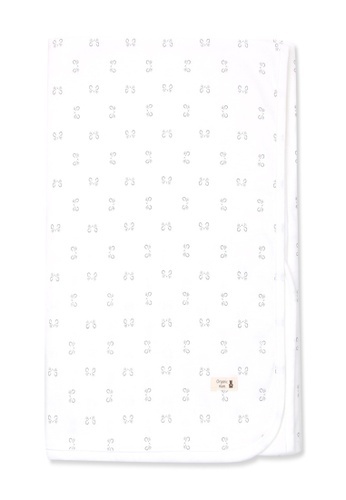 Organic mom grey and white Organic Cotton Dean Mouse Swadding Blanket A54E5KC15B3F16GS_1