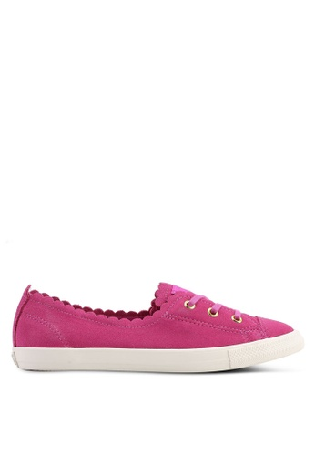 Converse pink Chuck Taylor All Star Ballet Frilly Thrills Ox Sneakers EF841SHB630BCEGS_1