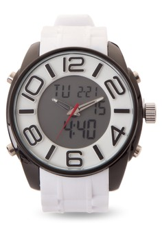Quartz Analog Digital Watch SP-052 WHT