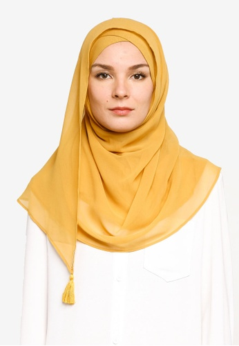 Bokitta yellow Mustardy Instant Hijab 5C349AAA444BBBGS_1