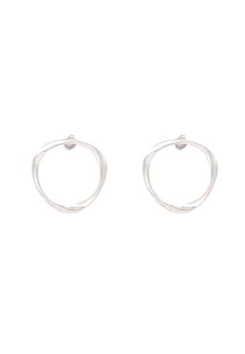 niko and ... silver Double Hoop Earrings B2763ACB904EB2GS_1