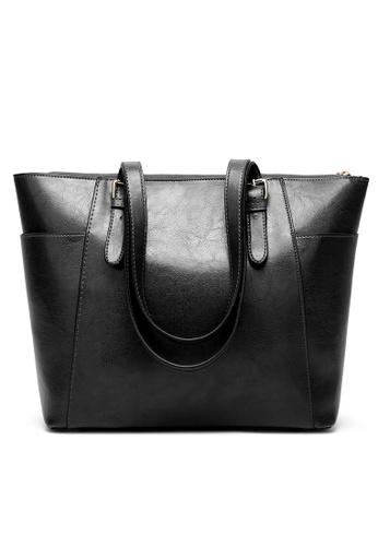 Lara black Women Plain Shoulder Bag 4DB3BAC6320D9EGS_1