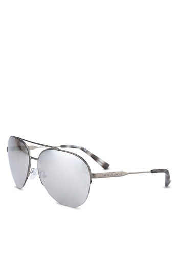 Armani Exchange grey Armani AX2020S Sunglasses AR162GL0RNHWMY_1