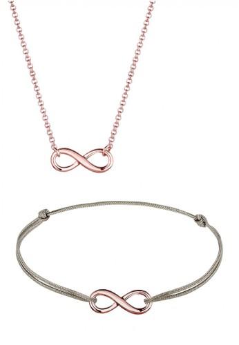 Elli Germany gold Perhiasan Wanita Perak Asli - Silver Perhiasan Set Infinity Casual Rosegold Plated 8E240AC706BB5CGS_1