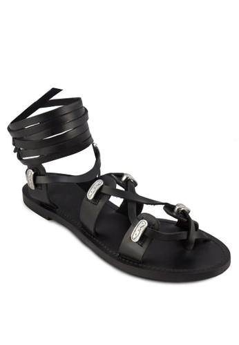 牛皮羅馬zalora 心得涼鞋, 女鞋, 涼鞋