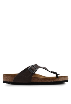 cfa2d5455f2 Birkenstock brown Gizeh Pull Up Sandals D5921SHE54FC69GS 1